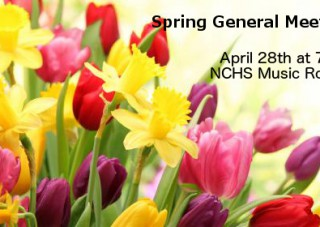 Spring General Meeting – 4/28 @ 7pm